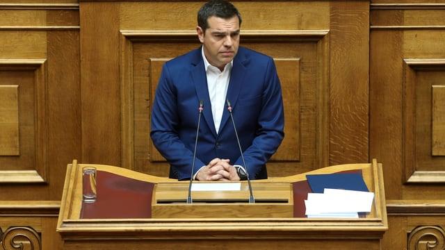 Tsipras am Rednerpult