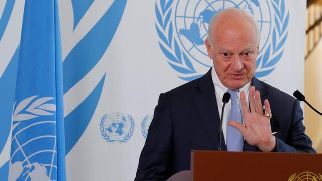 UNO-Syrienbeauftragte Staffan de Mistura.