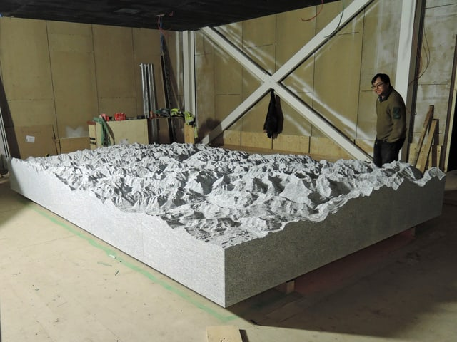Relief des Gothardmassivs