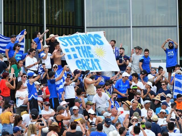 Die griechischen Fans in Melbourne.