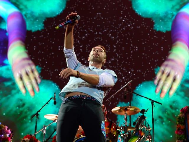 Der imposanteste Auftritt: Coldplay.