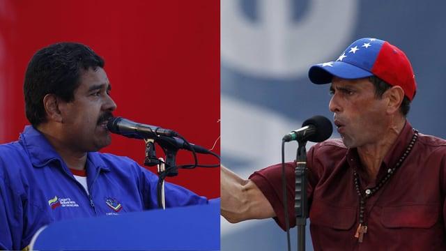 Nicolás Maduro und Rivale Henrique.