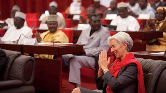 IMF-Chefin Lagarde bei einem Besuch in Niger, 2011.