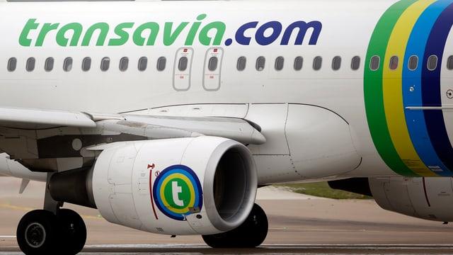 Ein Transavia-Maschine auf dem Rollfeld