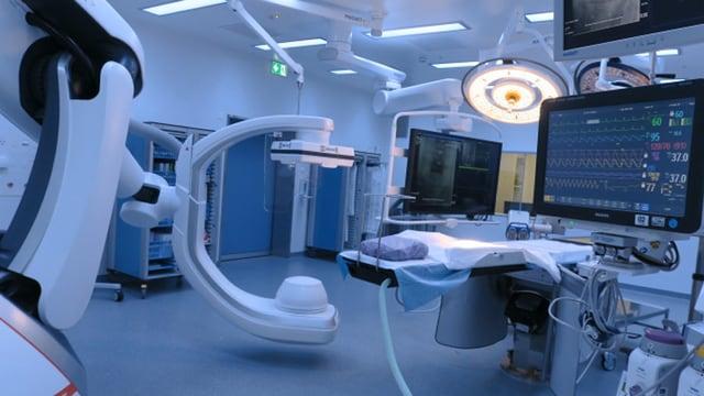 Röntgenalage, Bildschirme und Schragen