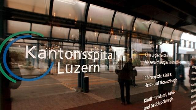 Schriftzug Kantonsspital Luzern