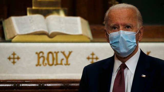 Joe Biden mit Gesichtsmaske