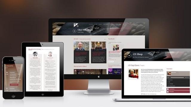 La nova pagina d'internet è adattada per ils differents apparats.