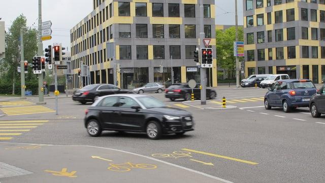 Kreuzung Bogenstrasse-St.Leonhard-Strasse