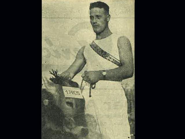 Willy Lardon aus Murten holte 1943 in Zug den Titel des Schwingerkönigs