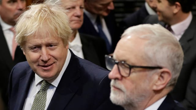 Johnson und Corbyn im Parlament