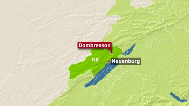 Karte von Neuenburg.