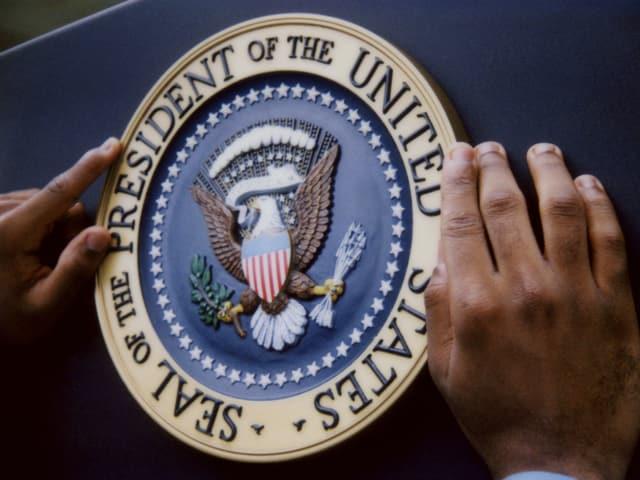 Das Siegel des Präsidenten der Vereinigten Staaten