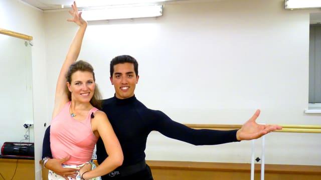 Svetlana mit ihrem Tanzpartner Matt