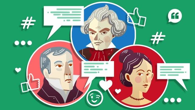 Illustration von Beethoven, Marie Bigot und Paul Bigot