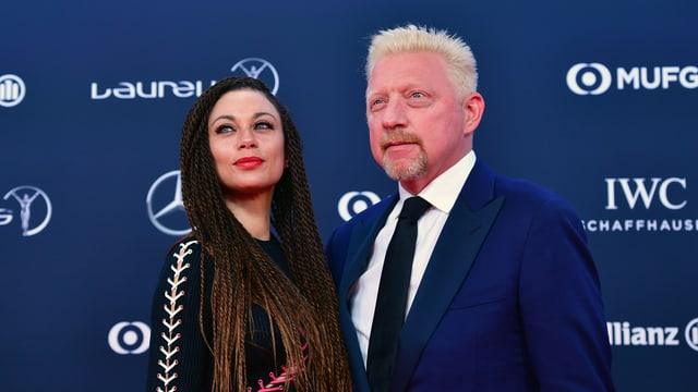Boris Becker und Ehefrau Lilly Becker an den Laureus World Sports Awards.