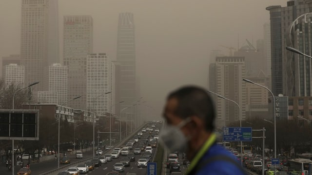Smog in Peking.