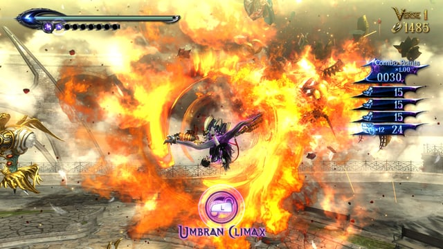 Bayonetta beherrscht auch den Ring of Fire perfekt.