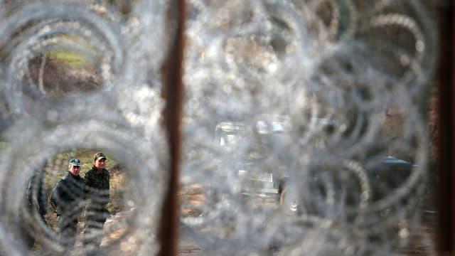 Eine Grenzzaun an der bulgarisch-türkischen Grenze, über die tausende illegale Migranten nach Europa kommen