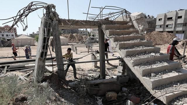 Sommer 2015: Wiederaufbau im Ostteil von Gaza City nach dem letzten Krieg vor einem Jahr.