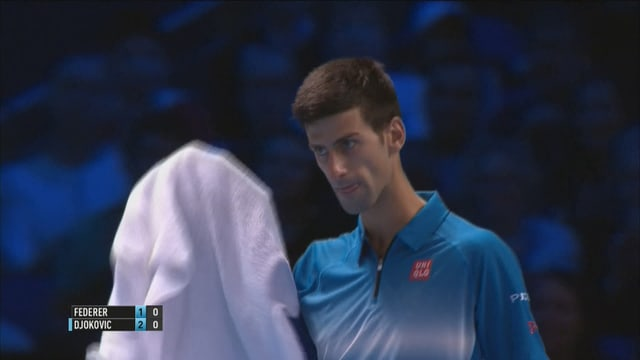 Djokovic realisiert das Break.