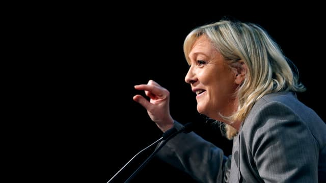 Marine Le Pen bei einer Rede.