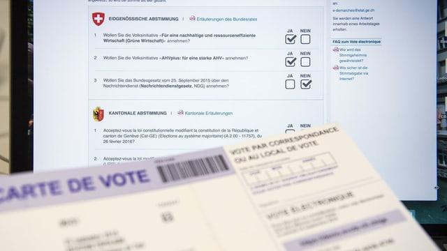 Sistem da votar a moda electronica dal chantun Genevra.