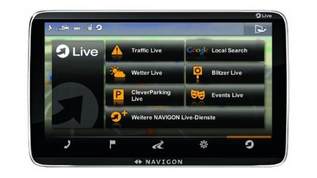 Nahaufnahme Navigastionsgerät-Bildschirm.