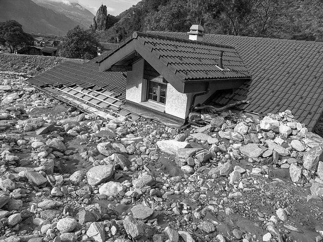 Haus verschüttet