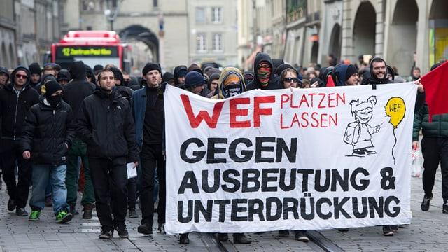 Demonstranten unterwegs.