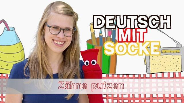Video «Deutsch mit Socke: Zähne putzen (3/35)» abspielen