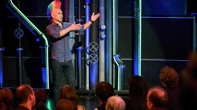 Andreas Thiel vor Publikum
