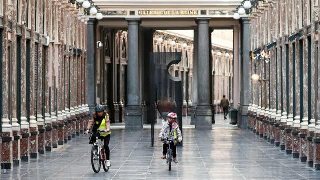 Velofahrer in Brüssel