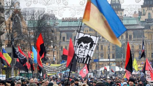 Demos in Kiew.