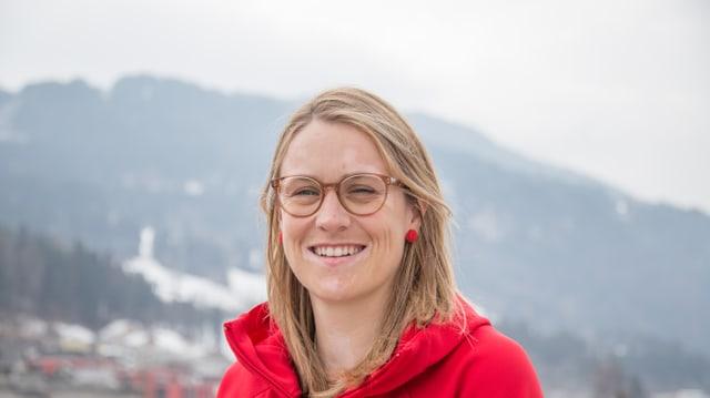 Luana Bergamin, la scheffa da la delegaziun svizra.