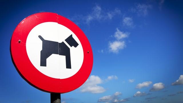 Hundeverbots-Schild