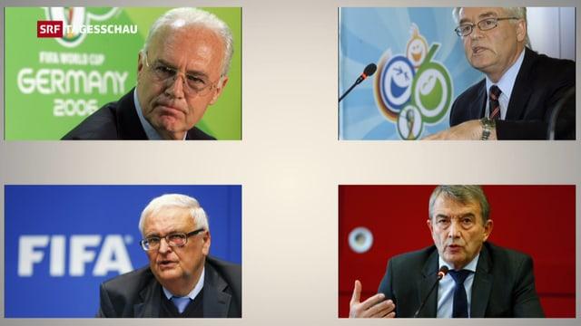 Franz Beckenbauer, Horst R. Schmidt, Theo Zwanziger und Wolfgang Niersbach.