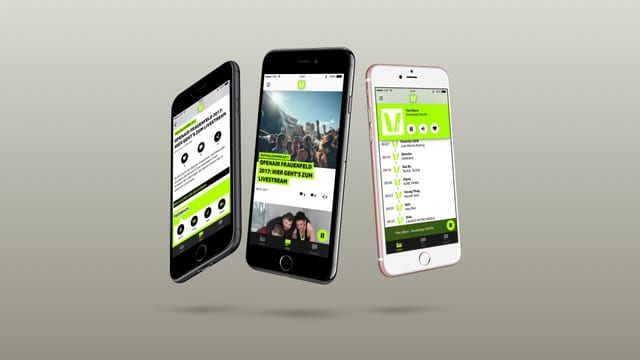 Smartphones mit SRF 3 App