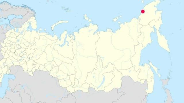 """Im nordrussischen Pewek liefert die """"Akademik Lomonossow"""" jetzt ersten Strom."""