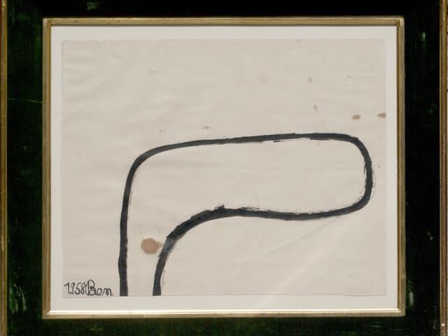 Bild: Tuschezeichnung auf weissem Hintergrund, die eine einfache Form darstellt.