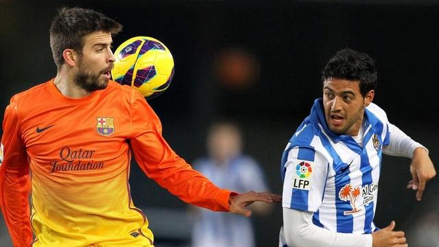 Barcelona mit Piqué verliert gegen San Sebastian mit Vela.