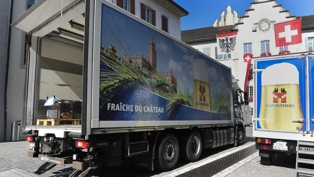 Lastwagen Feldschlösschen.