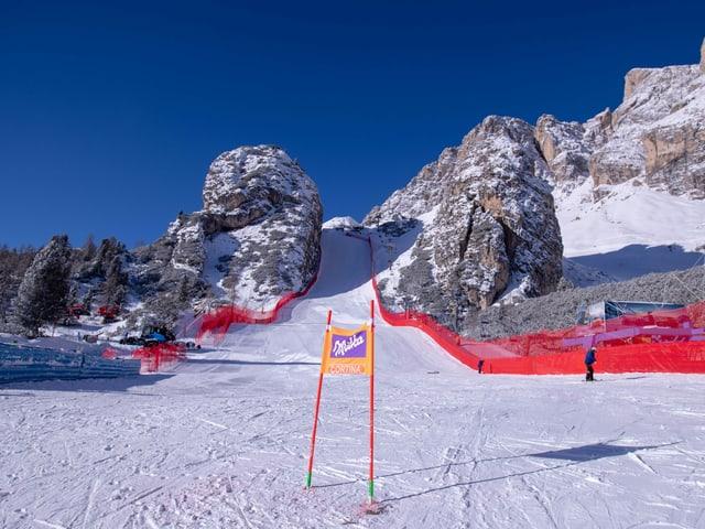 Strecke in Cortina d'Ampezzo.