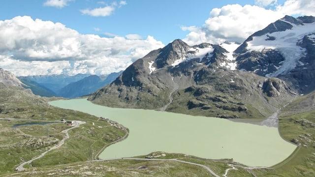 Visualisierung des Lago Bianco nach der Staumauererhöhung