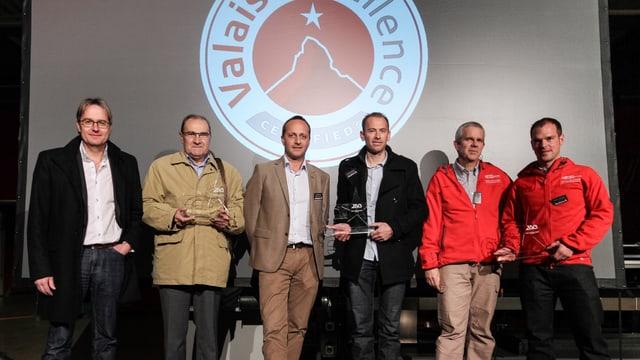 Die Preisträger der Valais excellence Awards 2013