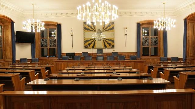 Der leere Landratssaal.