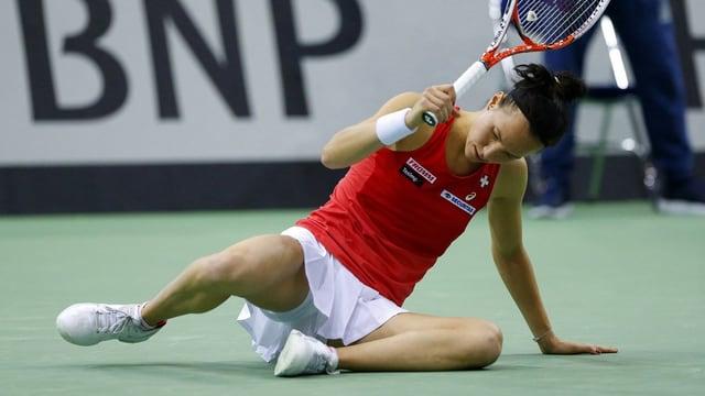Viktorija Golubic scheitert in der 1. Runde.