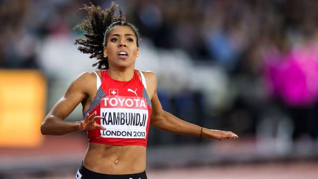 L'atleta svizra Mujinga Kambundji