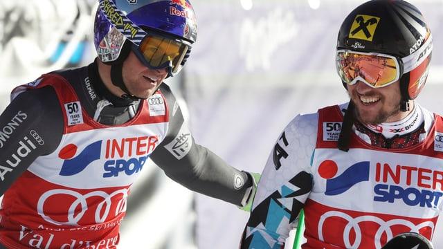 Alexis Pinturault und Marcel Hirscher.