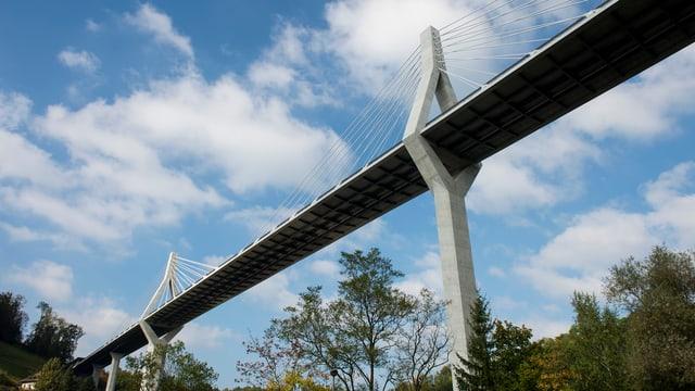 Poyabrücke von unten